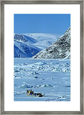 Traditional Komatik, Grise Fiord Framed Print by Robert Postma