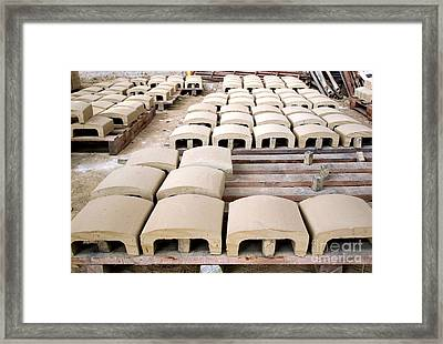 Traditional Roof Tile Production Framed Print