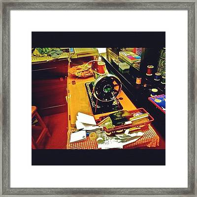 Traditional Sewing Machine Framed Print