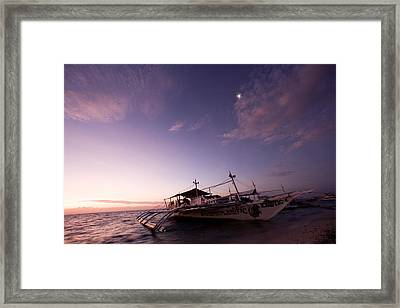 Traditional Style Philippine Outrigger Framed Print