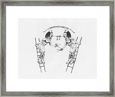 Traduttore Traditore Framed Print by Canis Canon