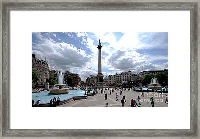 Trafalgar Square Framed Print by Pravine Chester