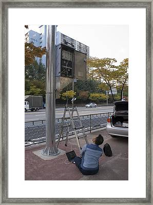 Traffic Control System, Daejeon Framed Print by Mark Williamson