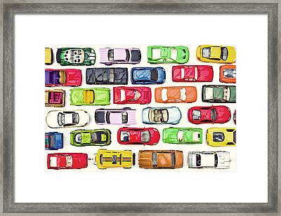 Traffic Jam Framed Print by Catherine MacBride