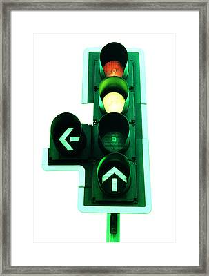Traffic Lights Framed Print by Kevin Curtis