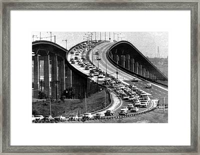 Traffic On The Garden State Parkway Framed Print