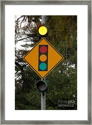 Traffic Sign Framed Print by Photo Researchers