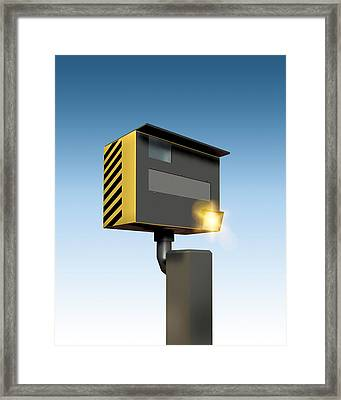 Traffic Speed Camera Framed Print