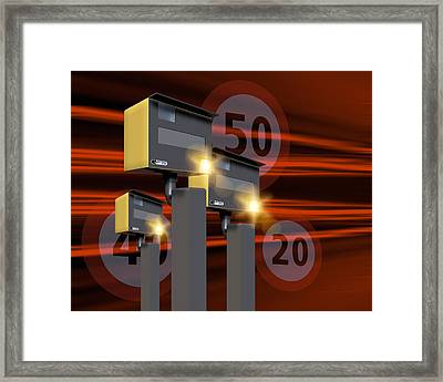 Traffic Speed Cameras Framed Print