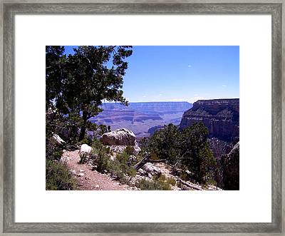 Trail To The Canyon Framed Print