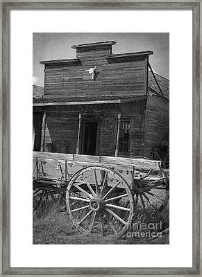 Trail Town In Cody Wyoming Framed Print by Janeen Wassink Searles