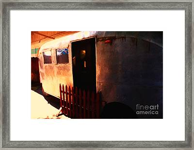 Trailer Park - Painterly - 5d16585 Framed Print by Wingsdomain Art and Photography