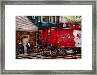 Train - Caboose - End Of The Line Framed Print by Mike Savad