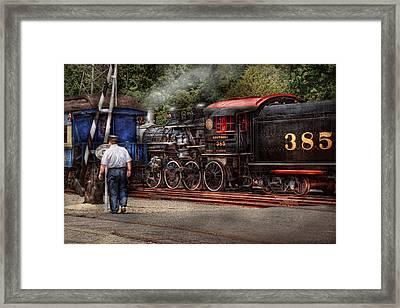 Train - Steam - The Conductors Job  Framed Print