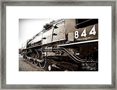 Train 844 Stopped Framed Print by Joseph Porey