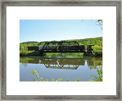 Framed Print featuring the photograph Train And Trestle by Sherman Perry