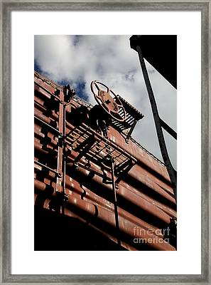 Train Car Framed Print by Leslie Leda