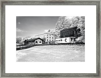 Framed Print featuring the photograph Train Depot by Mary Almond