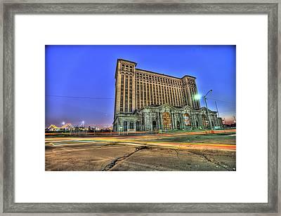 Michigan Central Train Depot Station Detroit Mi Framed Print