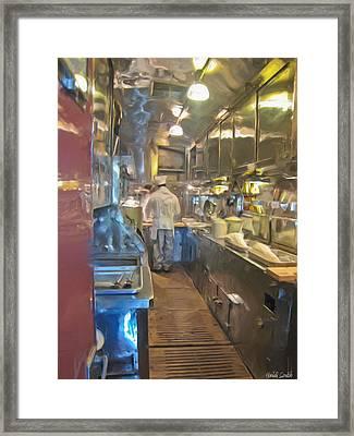 Train Galley Framed Print by Heidi Smith