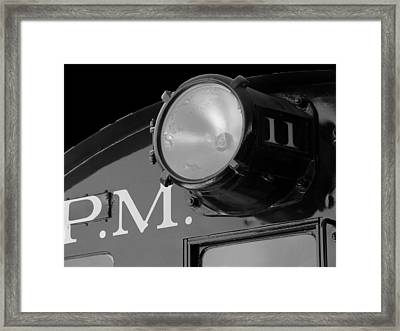 Framed Print featuring the photograph Train Headlight by Darleen Stry