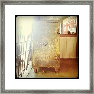 Train Locker Framed Print