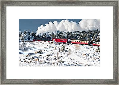 Train On The Brocken (harz) Framed Print