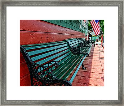 Train Station Waiting Area Framed Print by Paul Ward