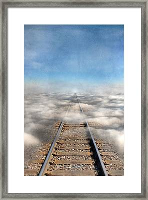Train Tracks Into The Clouds Framed Print
