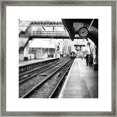#train #trainstation #station Framed Print by Abdelrahman Alawwad