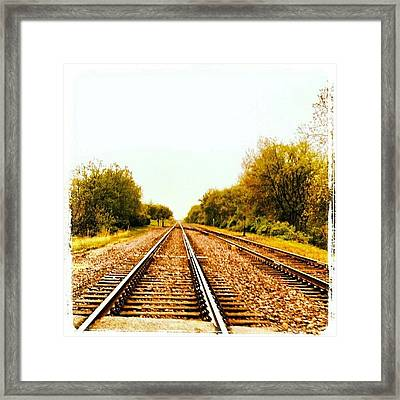 #train #traintracks #tracks #sky Framed Print