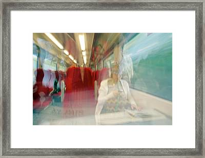 Train Travel Framed Print by Carlos Dominguez