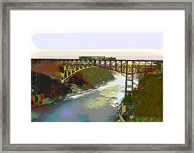 Train Trussel Framed Print by Charles Shoup