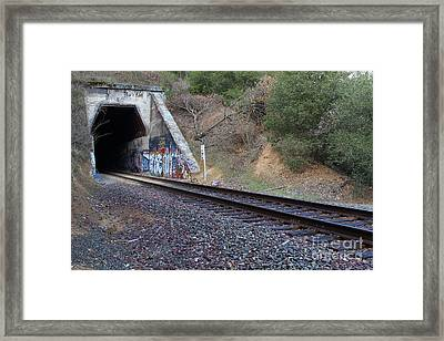 Train Tunnel At The Muir Trestle In Martinez California . 7d10228 Framed Print by Wingsdomain Art and Photography