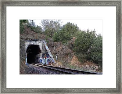Train Tunnel At The Muir Trestle In Martinez California . 7d10229 Framed Print by Wingsdomain Art and Photography