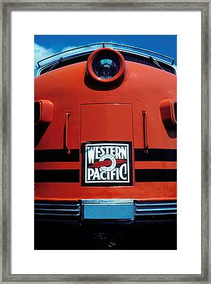 Train Western Pacific Framed Print by Garry Gay