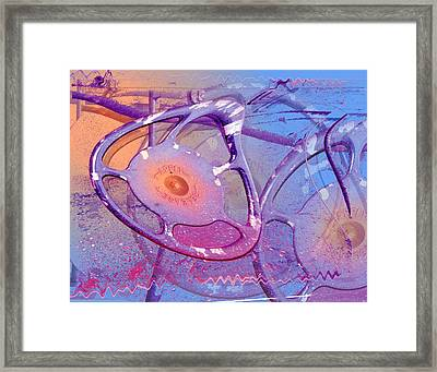 Train Wheels Framed Print