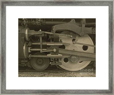Train Wheels Framed Print by Photo Researchers