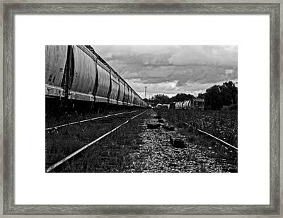 Framed Print featuring the photograph Train Yard by Randall  Cogle