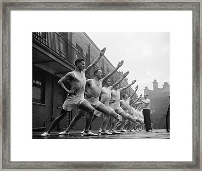 Trainee Policemen Framed Print by Arthur Tanner