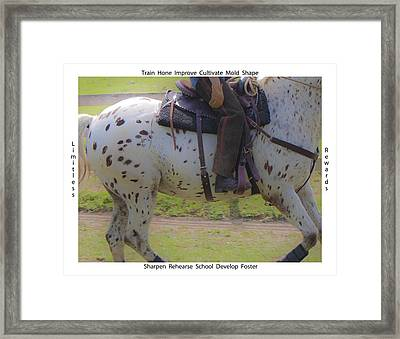 Training Framed Print by Betsy Knapp