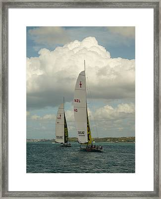 Training On The Harbour Framed Print by Amy Jayne Roper