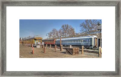Trains Framed Print by Barry Jones