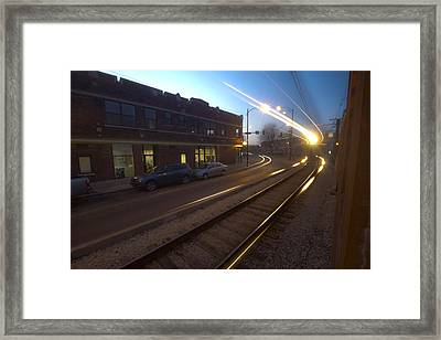 Train's Coming At You Framed Print by Sven Brogren