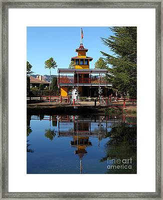Traintown Sonoma California - 5d19218 Framed Print by Wingsdomain Art and Photography