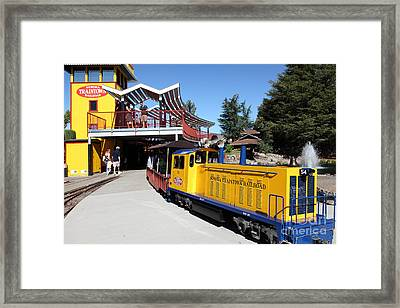 Traintown Sonoma California - 5d19236 Framed Print by Wingsdomain Art and Photography