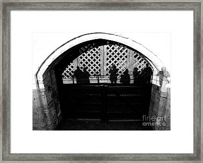 Traitors Gate And Ghostly Images  Framed Print by David Pyatt