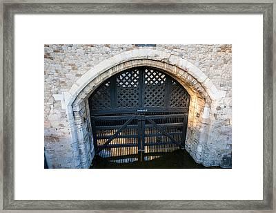Traitors Gate Framed Print by Dawn OConnor