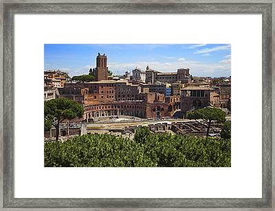 Trajan Market In Rome Framed Print