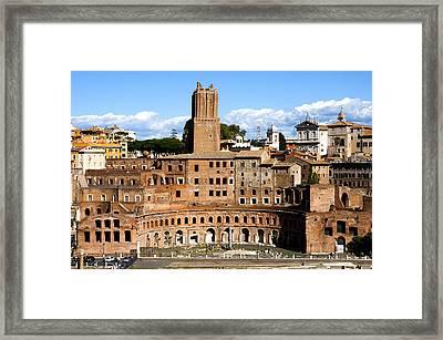 Trajan's Market  Framed Print